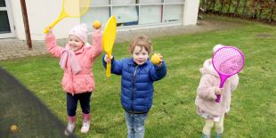 Cocoon Childcare - Chiuldren playing outside