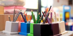 Cocoon Childcare - Coloured pencil holders